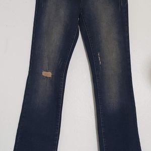 Rocawear Blue women bell bottom flared Denim Jeans